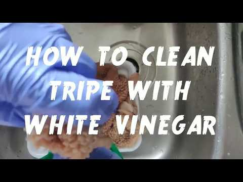 How To Clean Tripe With White Vinegar