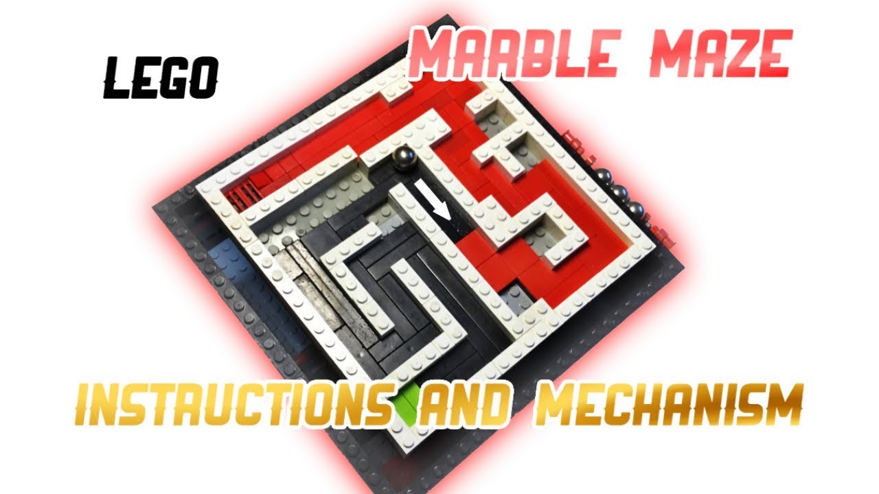 LEGO MARBLE MAZE MECHANISM & INSTRUCTIONS