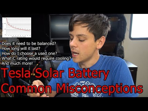 DIY Tesla Solar Battery Common Misconceptions: is Balancing required? Cycle Life? Cooling? Cost?