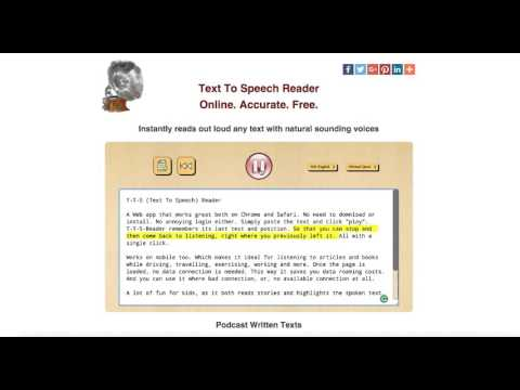 New Text to Speech Reader Online Tool