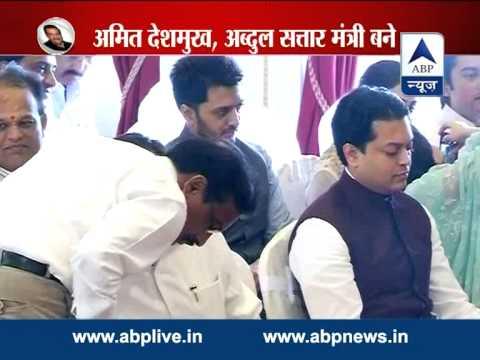 Amit Deshmuk and Adbul Sattar inducted in Maharashtra cabinet