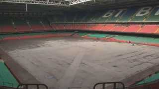 Timelaspe of the new Millennium Stadium pitch installation | WRU TV