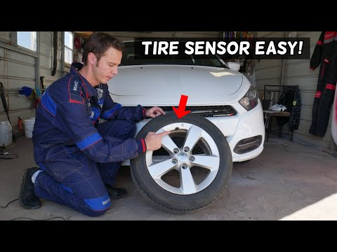 HOW TO REPLACE TIRE PRESSURE SENSOR ON DODGE JEEP CHRYSER RAM, TPMS SENSOR REPLACEMENT