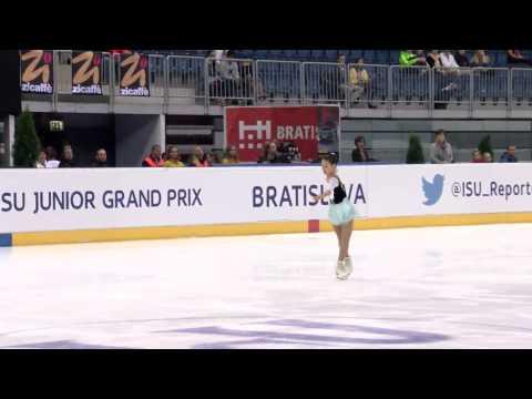 2015 ISU Junior Grand Prix Bratislava Ladies Free Skate Mai MIHARA JPN