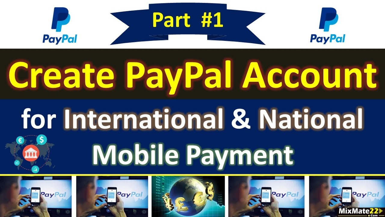 How to Create PayPal Account || & Add Bank Account ||🌏 for National and  International Payment