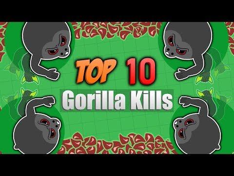 TOP 10 BEST GORILLA KILLS BY BANDITO! (Mope.io Top 10 Best)