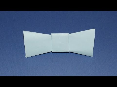 How To Make An Origami Bow Tie - YouTube - photo#19