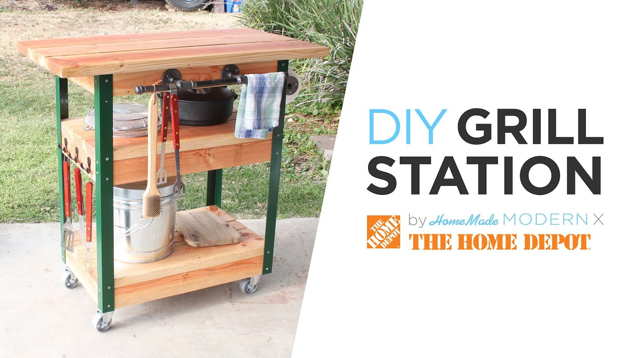 DIY Grill Cart - YouTube