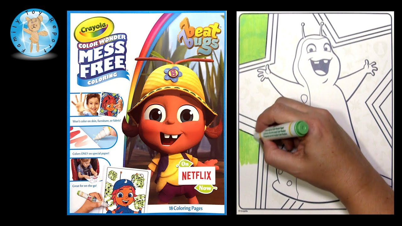 Crayola Color Wonder Coloring Book Netflix Beat Bugs Walter Sd Family Toy Report