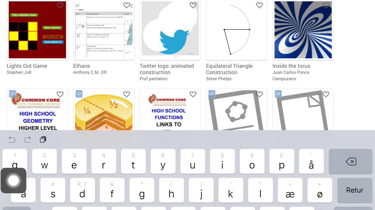 Sådan åbner du en opgave i GeoGebra (iPad)