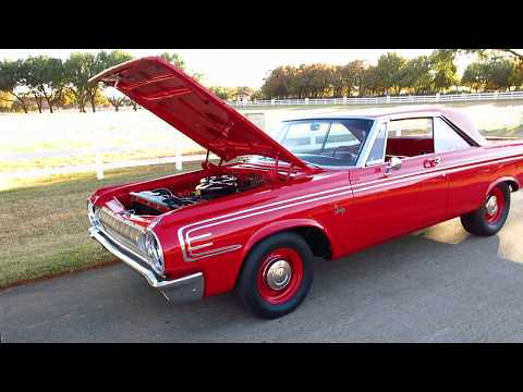 1964 Dodge Max Wedge Clone, 426, sure grip, street stall, exhaust cut outs