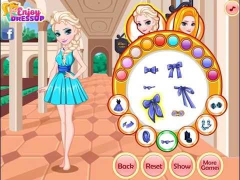Frozen Elsa And Rapunzel Matching Outfits (Холодное сердце: Наряды Эльзы и Рапунцель)