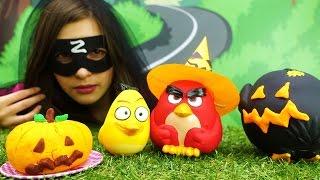 Видео для детей: энгри бёрдз и вечеринка Хэллоуин