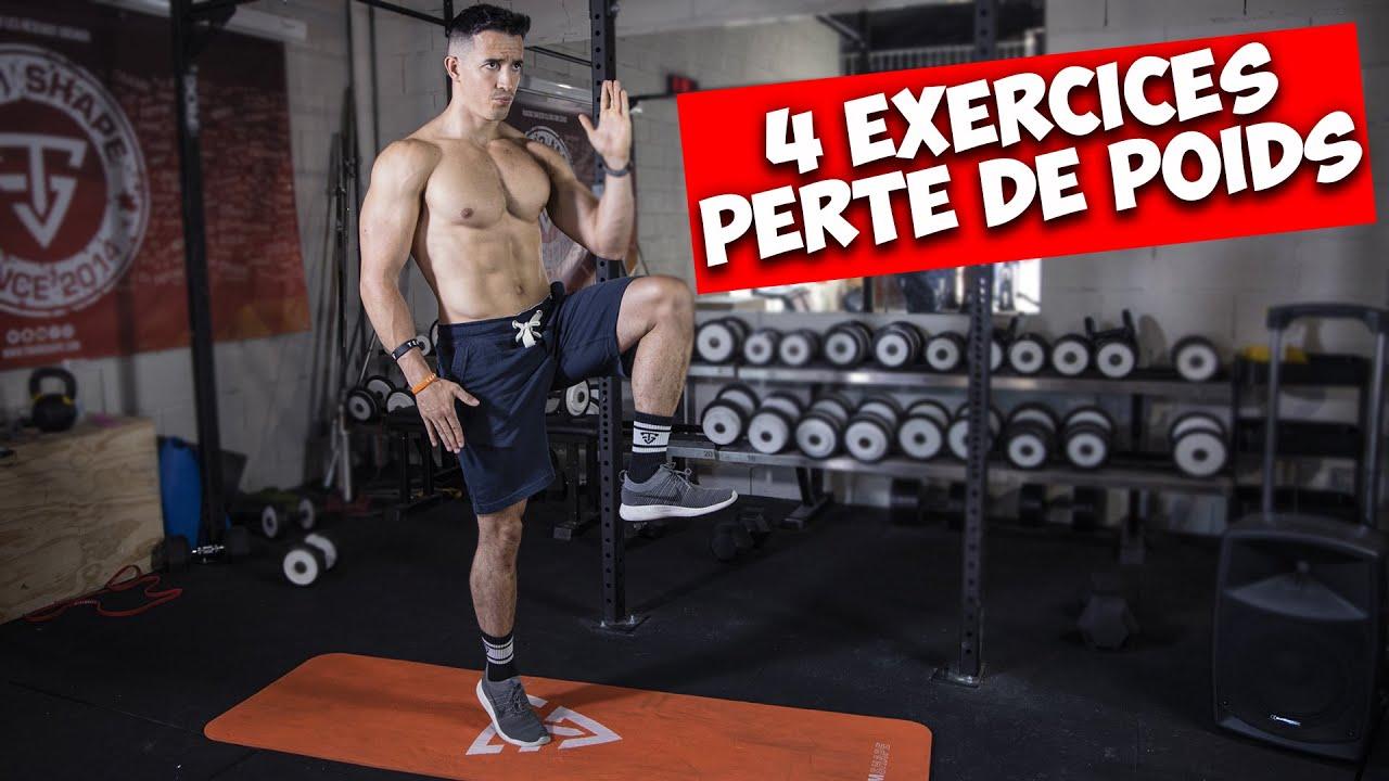 4 Meilleurs Exercices pour Perdre du Poids !
