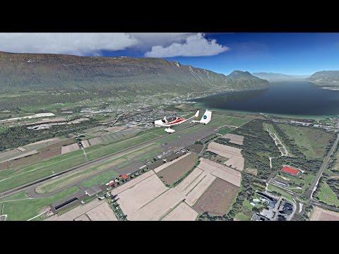 Xplane11 lflb chambery aix les bains tour de terrain en for Terrain chambery