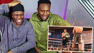 KSI REACTS TO MY 4TH PROFESSIONAL FIGHT.
