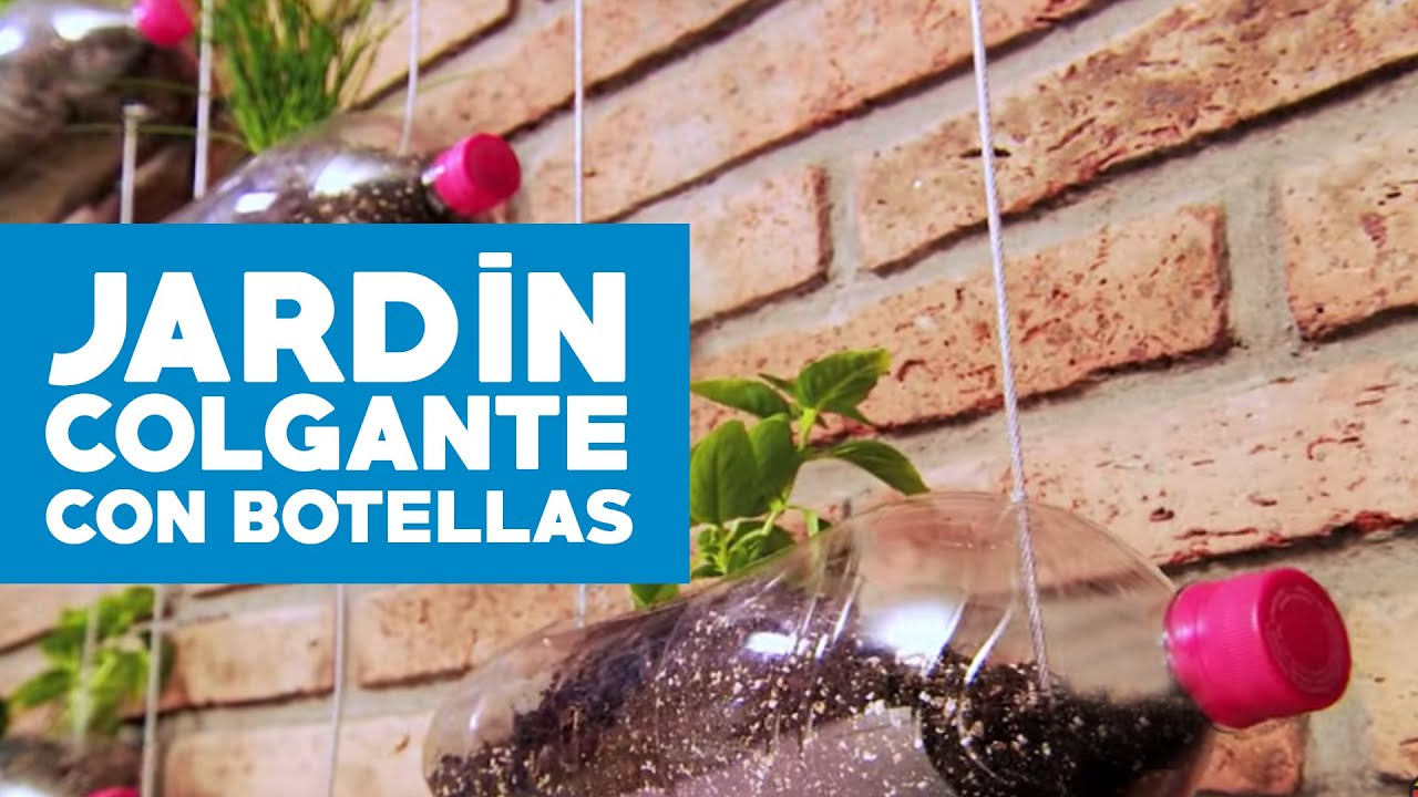 C mo hacer un jard n colgante reciclando botellas youtube for Bordillos de plastico para jardin