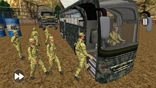 Real Military Coach Simulator#17 - Army Bus Driver US Soldier Transport Duty - Android GamePlay screenshot 4