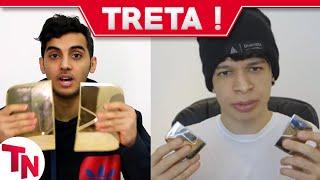 Youtuber árabe MrMrSnB2 corta placa de 1 Milhão e Aruan Felix responde