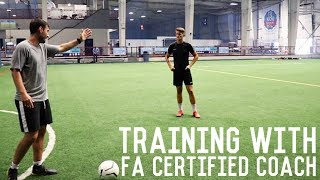 Passing, First Touch and Finishing Drills | Full Training Session With FA Certified Coach