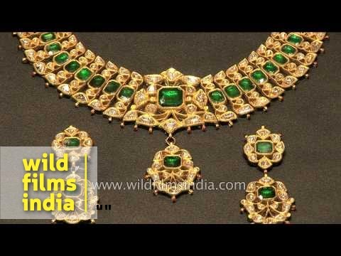 a2cd9259b Traditional Rajasthani jewellery on display in Jaipur - YouTube
