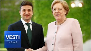 Merkel Breaks Down Into Spasms! Ancient Old Politician Unable to Stand For Entire Anthem!