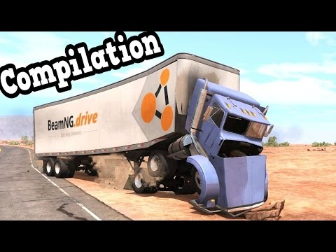 BeamNG Drive - My Best Truck Crash Tests Compilation