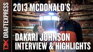 Dakari Johnson - 2013 McDonald's All-American Game - Interview & Practice Highlights