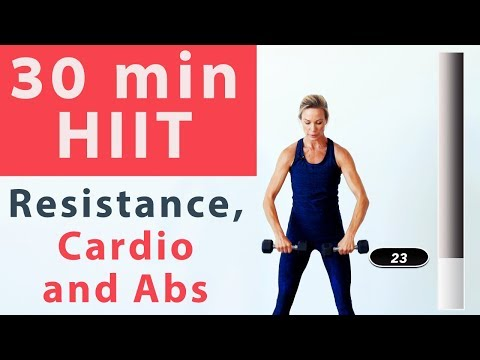 Advanced HIIT cardio, resistance and AB interval workout