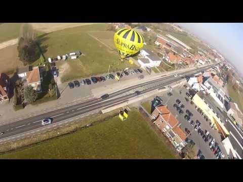 Plane Crashes into brand new Hot Air Balloon 'Supra Bazar' [Onboard Footage]