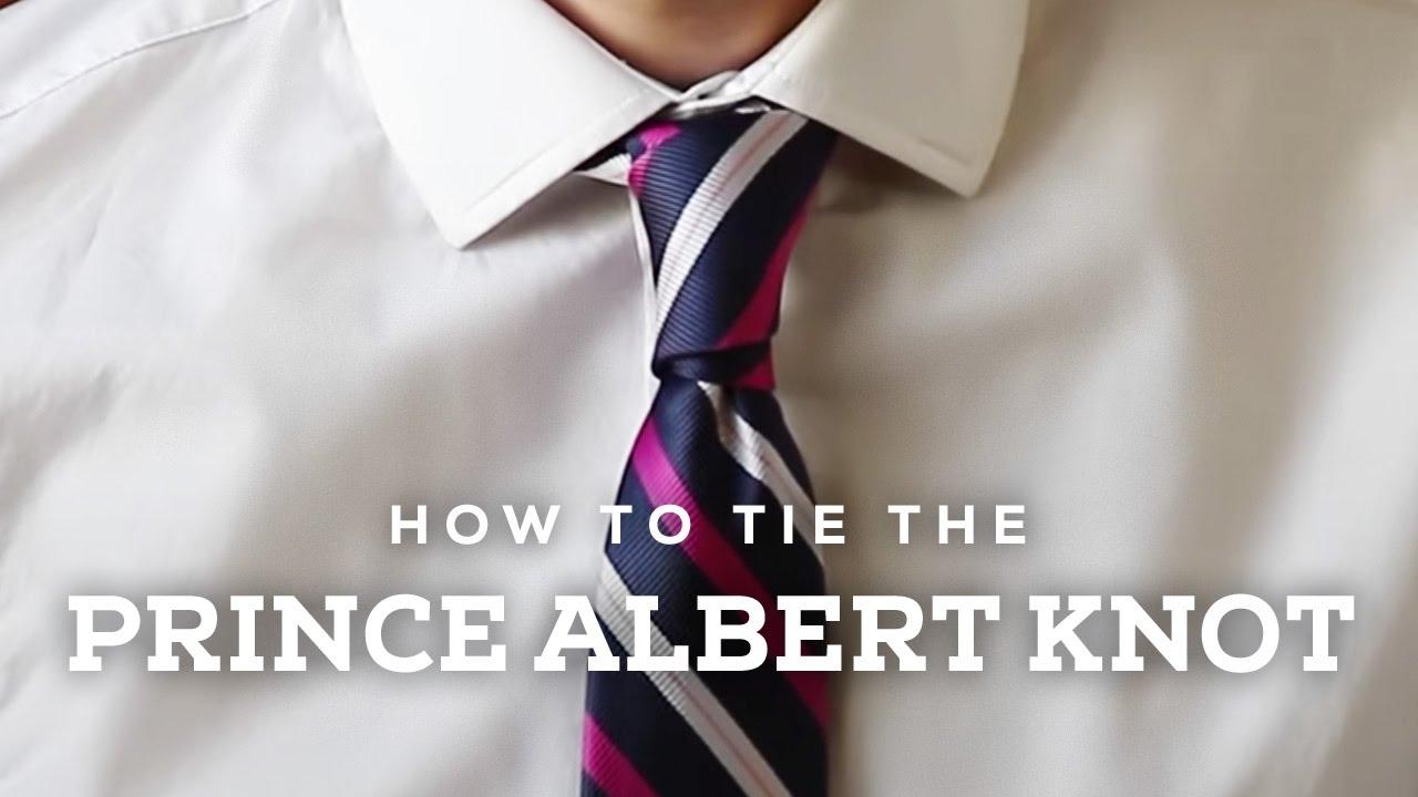 How to Tie A Prince Albert Necktie Knot