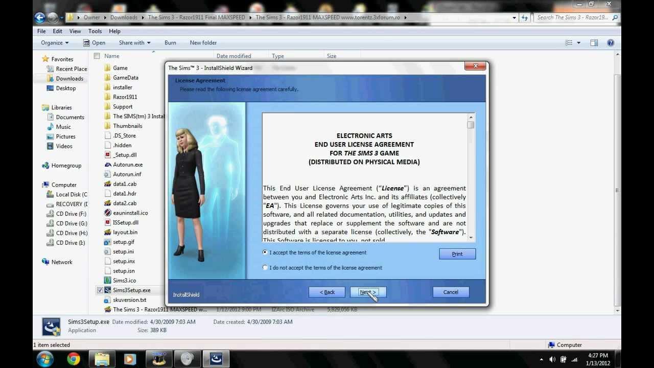 the sims 3 razor1911 final maxspeed keygen