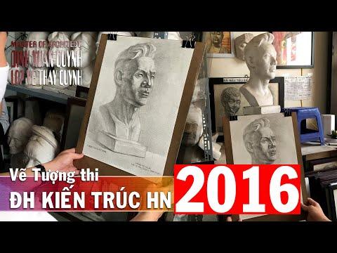 Hướng dẫn vẽ Tượng thi Đại Học Kiến Trúc Hà Nội năm 2016 - Tượng Soái Ca