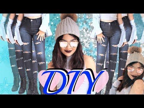 DIY Faça você mesmo: Como Desfiar Calça Jeans