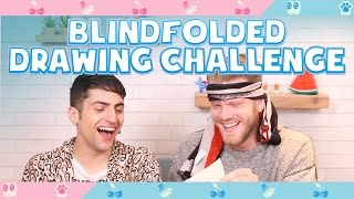 Repeat youtube video BLINDFOLDED DRAWING CHALLENGE