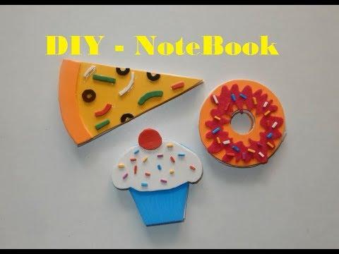 DIY _ Pizza, Burger, Cupcake Note Book, Back to school supplies