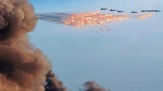 ЭФФЕКТНАЯ РАБОТА АВИАЦИИ в Сирии авиация россии бомбит ISIS террористы 10.11.2015