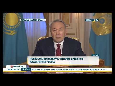 Nursultan Nazarbayev delivers speech to Kazakhstani people