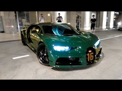 $3Million British Racing Green Arab Bugatti Chiron Sport in Monaco!