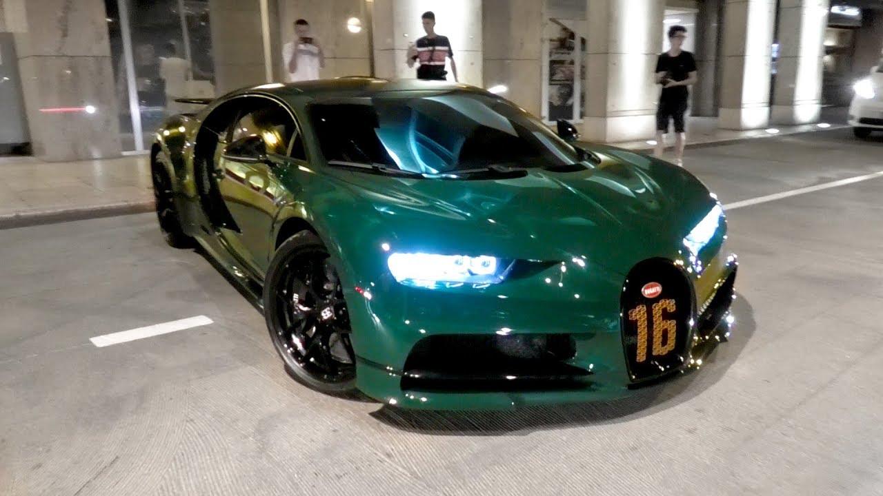 $3Million British Racing Green Arab Bugatti Chiron Sport in Monaco!