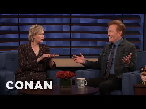 "Jane Lynch Doesn't Encourage Drinking On ""Hollywood Game Night"" Anymore - CONAN on TBS"