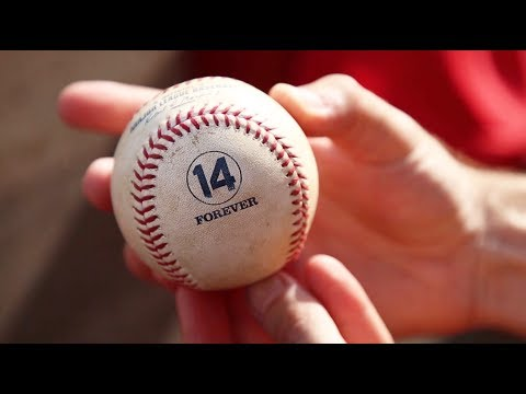 Special baseballs for Pete Rose Day at Great American Ball Park