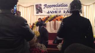 Chrystal Rucker singing Changed at James Hall Appreciation Service 2014