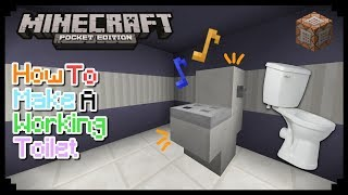 HOW TO MAKE A WORKING TOILET IN MCPE 1.1/1.0.9/1.0.8 | MCPE CREATION | NO MODS