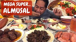 MEGA SUPER ALMUSAL!!! SPAMsilog! Longsilog! Hotdogsilog! Tapsilog! Atibapa! Filipino Food. MUKBANG!