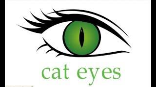 Очі, як намалювати очі кота, малюємо очі кота крок за кроком, як намалювати очі кішки, #drawing