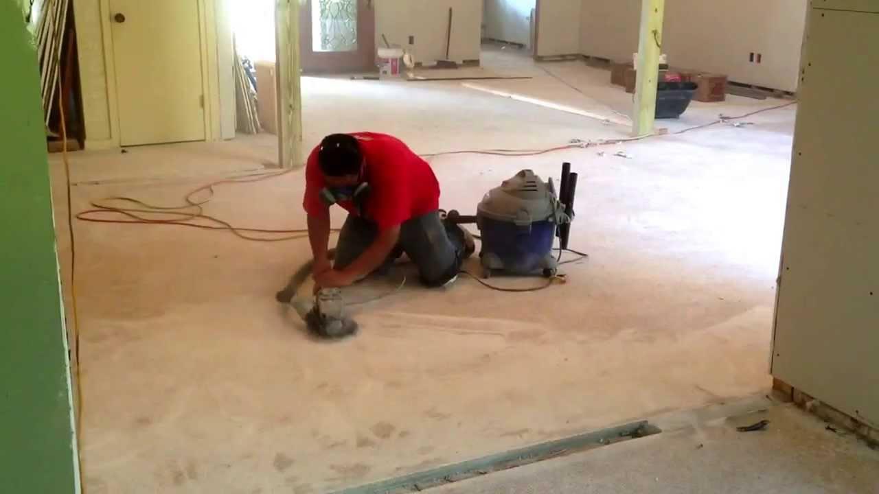 Floor Grinding Terrazzo Floors Prep For Ceramic Tile