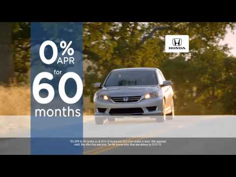 0% APR for 60 Months on All 2014-2015 Honda Accords and 2015 Honda Civics