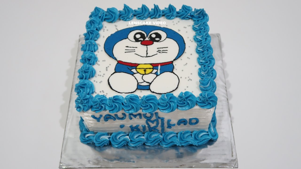 Doraemon Cake How To Make Birthday Cake For Kids Youtube