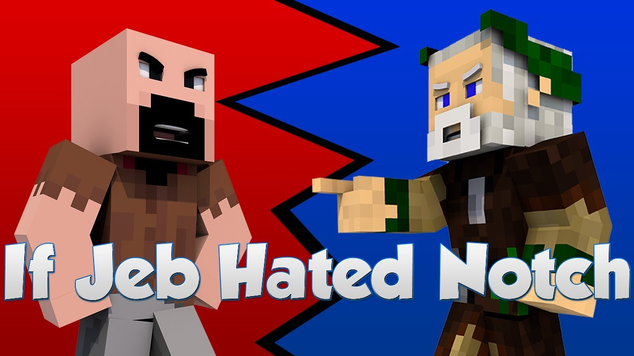 Notch Vs Jeb Minecraft Cartoon Youtube